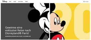 Disneyland Paris Gewinnspiel, Disney Gewinnspiel