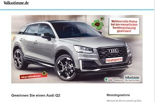 Audi Q2 Gewinnspiel