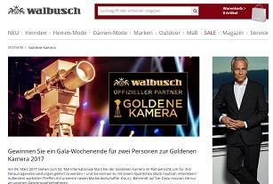 Goldene Kamera Gewinnspiel Bei Walbusch Gewinnspiele 2019