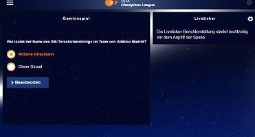 ZDF Champions League Gewinnspiel
