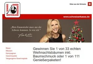 weihnachtsbaum gewinnen beim switzerland cheese. Black Bedroom Furniture Sets. Home Design Ideas