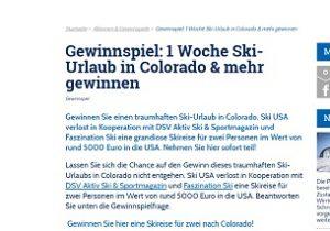 Ski-USA Gewinnspiel