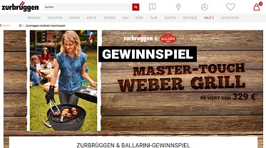 zurbr ggen gewinnspiel weber grill gewinnen. Black Bedroom Furniture Sets. Home Design Ideas