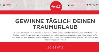 Coca-Cola Gewinnspiel