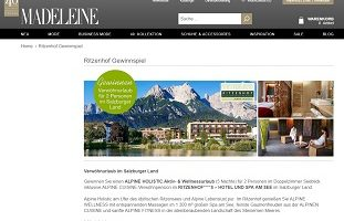 Salzburger Land Luxus-Urlaub Gewinnspiel, Madeleine Gewinnspiel