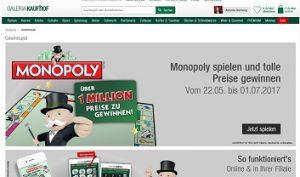 Galeria Kaufhof Gewinnspiel 1 Million