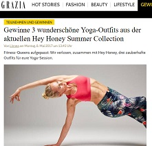 hey honey yoga outfit gewinnspiel bei grazia gewinnspiele 2017 2018. Black Bedroom Furniture Sets. Home Design Ideas