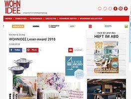 Wohnidee Leser Award Gewinnspiel, Wohnidee Gewinnspiel