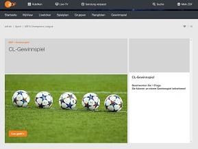zdf champions league gewinnspiel eingabe daten