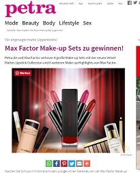 max factor make up gewinnspiel bei petra gewinnspiele 2018. Black Bedroom Furniture Sets. Home Design Ideas