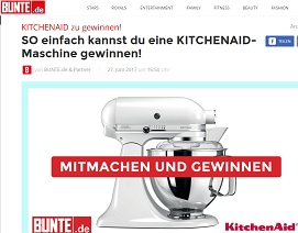 kitchenaid gewinnspiel k chenmaschine gewinnen gewinnspiele 2017. Black Bedroom Furniture Sets. Home Design Ideas
