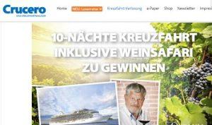 Oceania Cruises Kreuzfahrt Gewinnspiel