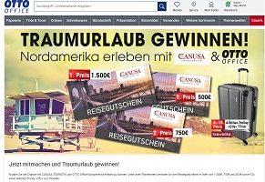 Canusa Reise-Gutschein Gewinnspiel, Otto Office Gewinnspiel