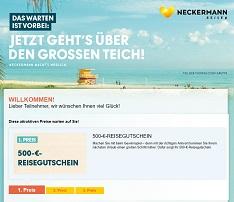 Neckermann Reise-Gutschein Gewinnspiel