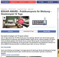 Edgar Award Gewinnspiel, TV Spielfilm Gewinnspiel
