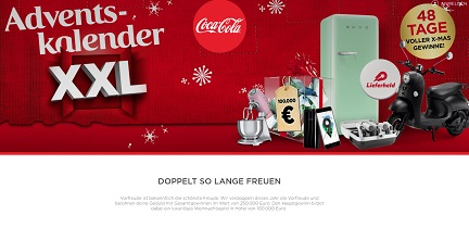 coca cola adventskalender gewinnspiel gewinnspiele 2018. Black Bedroom Furniture Sets. Home Design Ideas