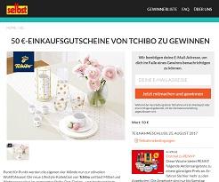 tchibo einkaufs gutschein gewinnspiel gewinnspiele 2018. Black Bedroom Furniture Sets. Home Design Ideas