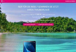 Telekom Reisegutschein Gewinnspiel