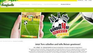 Bondue11er-Schießen Gewinnspiel, Bonduelle Gewinnspiel