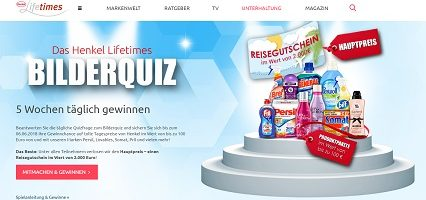 Reisegutschein Gewinnspiel, Henkel Lifetimes Gewinnspiel