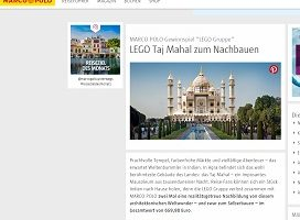 Lego Taj Mahal Gewinnspiel, Marco Polo Gewinnspiel