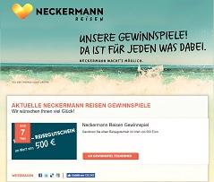 Neckermann Reisegutschein Gewinnspiel