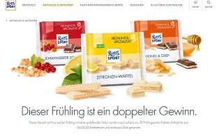 Schoko Paket Gewinnspiel, Ritter Sport Gewinnspiel