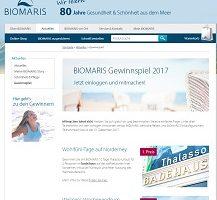 Norderney Urlaub Gewinnspiel, Biomaris Gewinnspiel