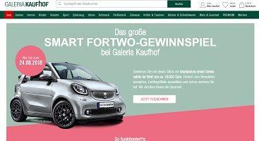 Smart Fortwo Gewinnspiel, Galeria Kaufhof Gewinnspiel