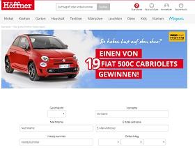 Höffner Fiat 500 Gewinnspiel, Höffner Gewinnspiel