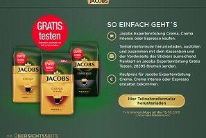 Jacobs gratis testen Aktion