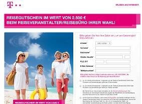 Telekom Reisegutschein Gewinnspiel, Telekom Gewinnspiel