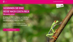 Costa Rica Reise Gewinnspiel, Telekom Gewinnspiel