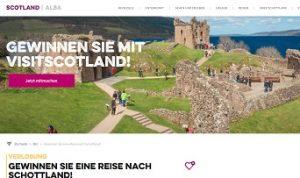 Schottland Reise Gewinnspiel