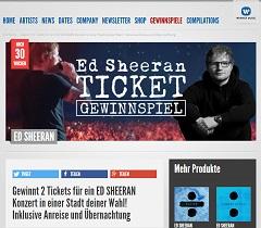 Ed Sheeran Reise Konzert Gewinnspiel