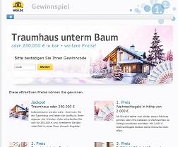 Web.de Bargeld Gewinnspiel
