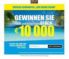 Atlas for Men 10000 Euro Gewinnspiel, Atlas for Men Gewinnspiel