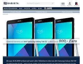 Samsung Galaxy Tab S3 Gewinnspiel, Babista Gewinnspiel