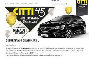Renault Mégane Gewinnspiel, Citti Gewinnspiel