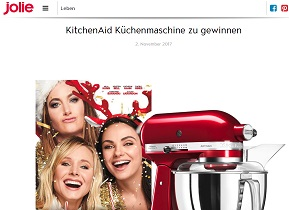 kitchenaid artisan gewinnspiel k chenmaschine gewinnen gewinnspiele 2017. Black Bedroom Furniture Sets. Home Design Ideas