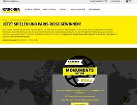 Paris Reise Gewinnspiel, Kärcher Gewinnspiel