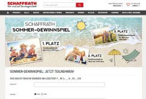 Schaffrath Sommer-Gewinnspiel, Schaffrath Gewinnspiel