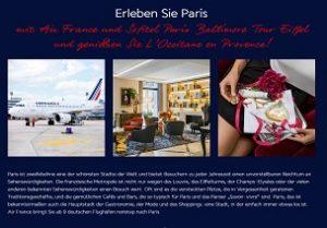 Paris Reise Gewinnspiel, Air France Gewinnspiel