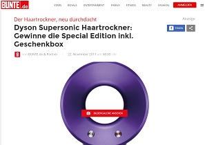 dyson supersonic gewinnspiel haartrockner gewinnen. Black Bedroom Furniture Sets. Home Design Ideas