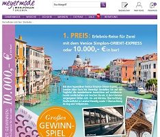 Orient-Express Gewinnspiel, Meyer Mode Gewinnspiel