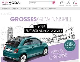 MiaModa Fiat 500 Gewinnspiel, MiaModa Gewinnspiel