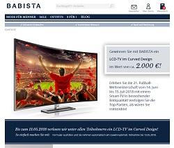 LCD-Curved-TV Gewinnspiel, Babista Gewinnspiel