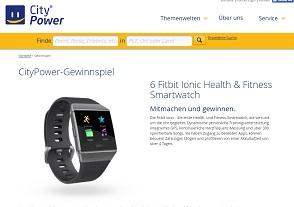 Fitbit Ionic Gewinnspiel, CityPower Gewinnspiel
