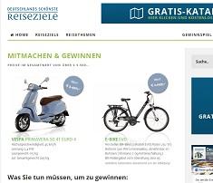 Vespa Motorroller Gewinnspiel, Deutschlands schönste Reisweziele Gewinnspiel