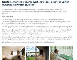 Schweiz Wochenend-Reise Gewinnspiel, Leifheit Gewinnspiel